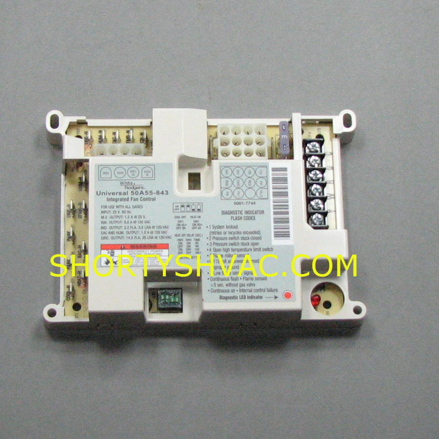 White Rogers Parts Shortys Hvac Supplies Tv Circuit Board 50a55 843