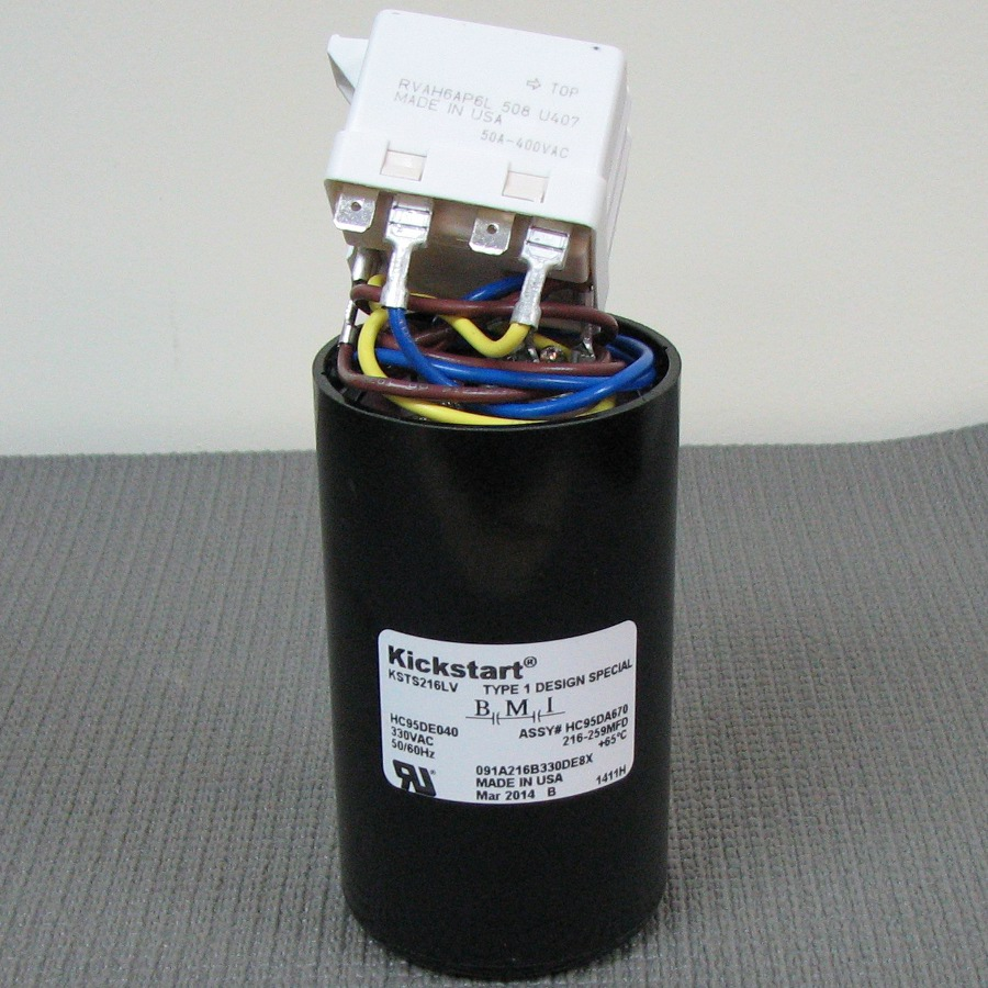 Carrier Start Relay and Capacitor Assembly HC95DA670