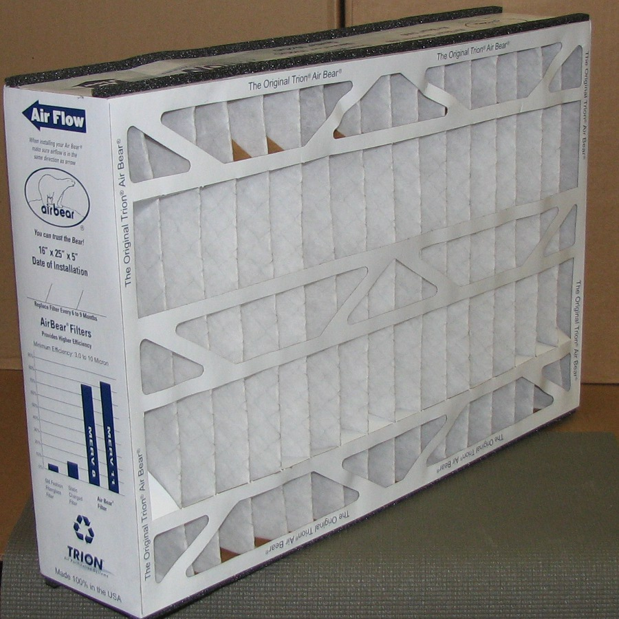 Box of 3 Trion Air Bear Filters 16 X 25 X 5