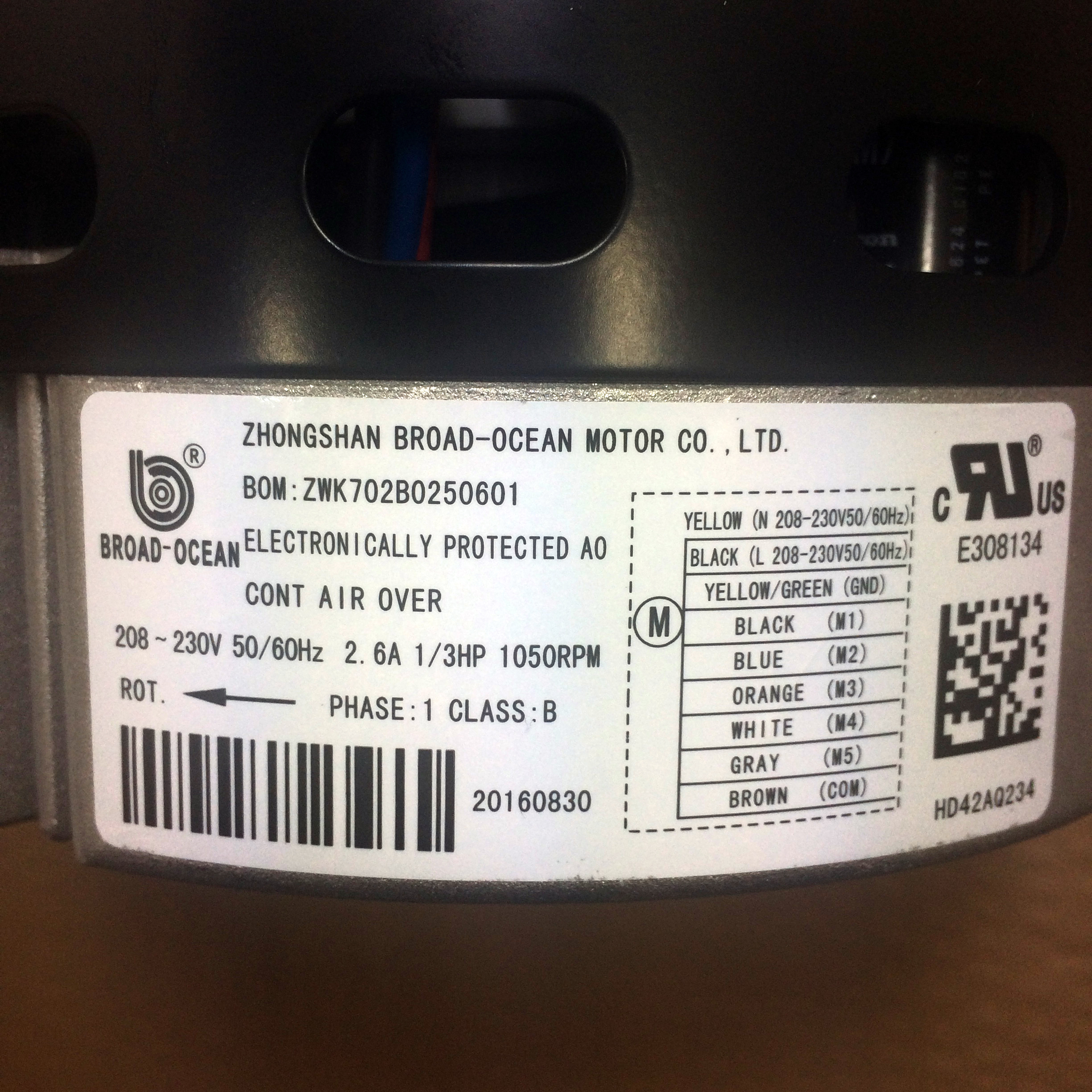 Carrier Blower Motor HD44AR242