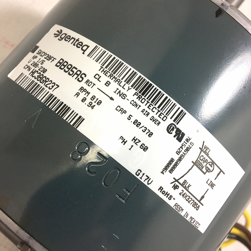 Carrier Condenser Fan Motor HC38GR237