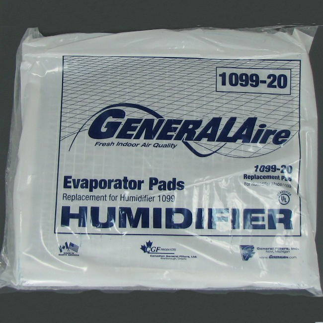 General Aire Humidifier Pad 1099-20 2 Pack